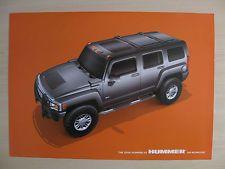 Hummer H3 Reino Unido Folleto de ventas (2006)