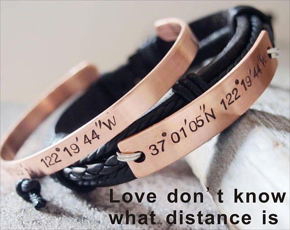 Coordinate bracelet Couples Coordinate Bracelet Coordinate
