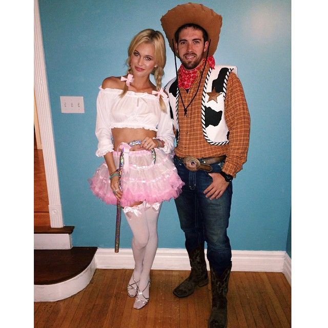 Happy Halloween from Bo Peep and Woody  #toystory #yeehaw #halloween #dressup…