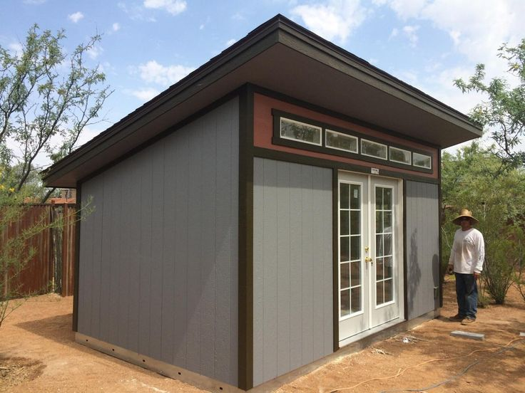 The 75 best images about modern sheds shed offices on for Shed roof garage