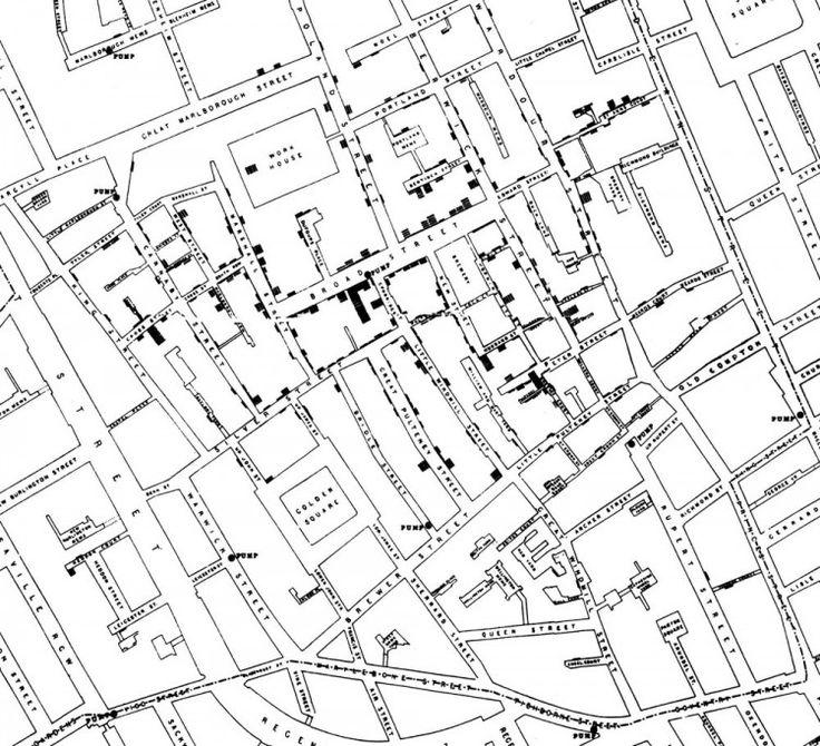 John Snow's cholera map of Soho