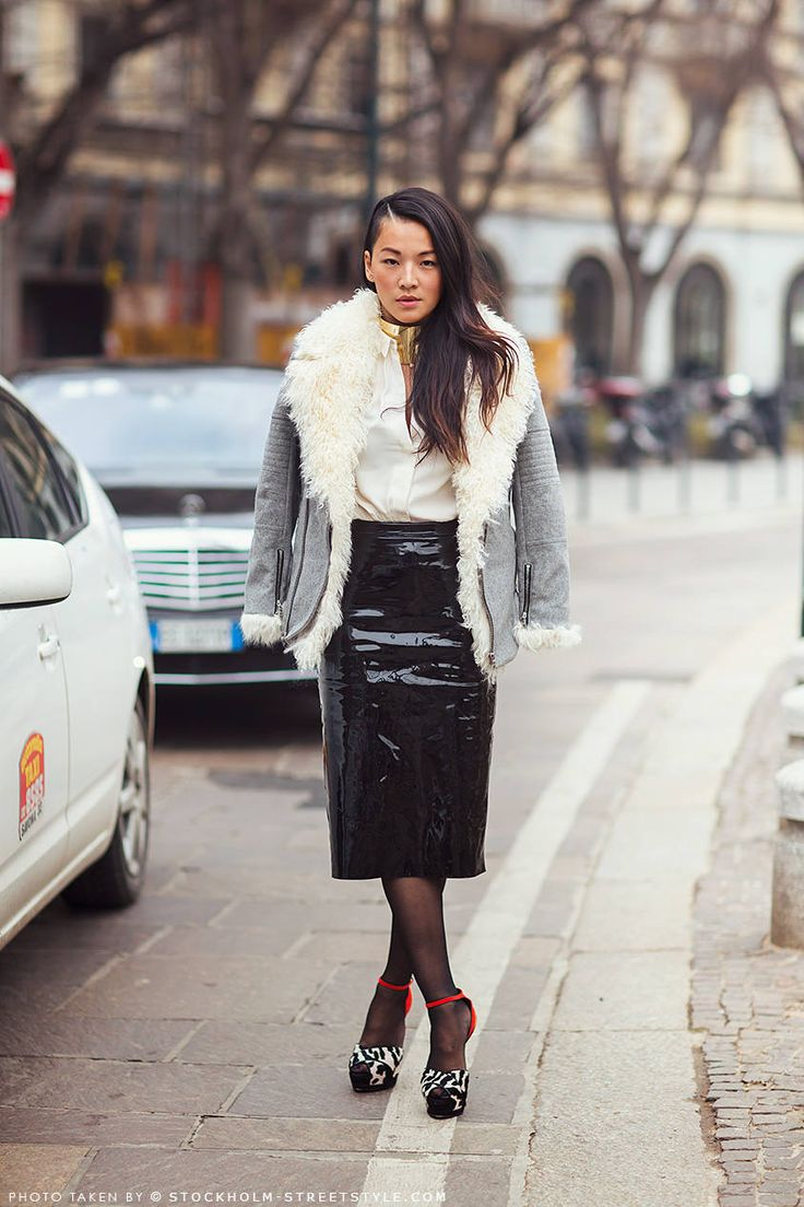Tina Leung ( Leather Skirts & Fur Real Faux Jackets ...