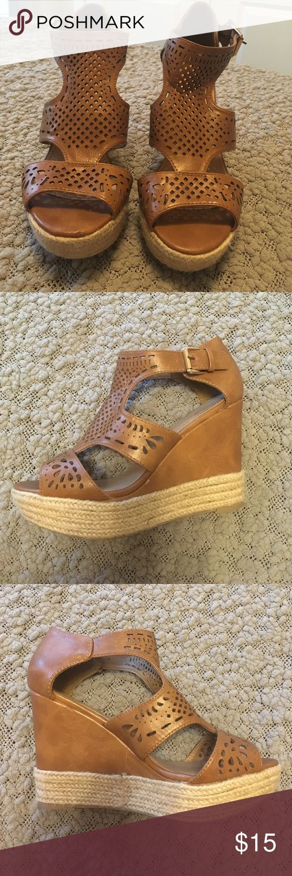Wedges Tan wedges Shoes Wedges
