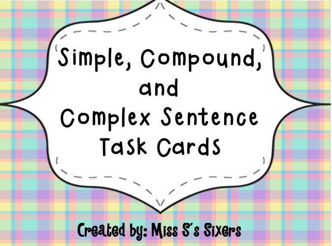 25 best SIMPLE, COMPOUND, AND COMPLEX SENTENCES images on Pinterest