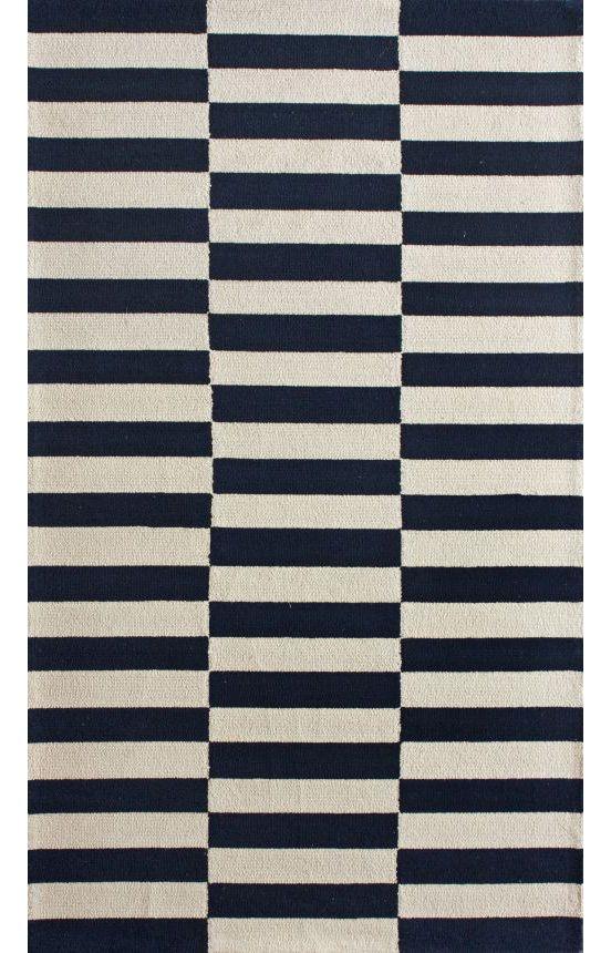 Black And White Striped Wool Carpet Carpet Vidalondon
