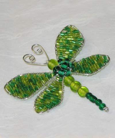 beaded dragonfly -