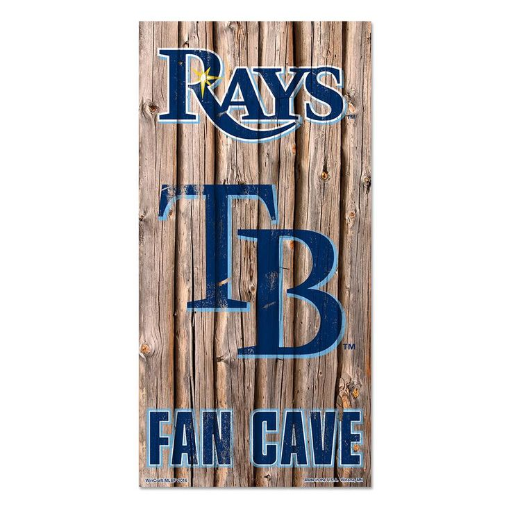 Tampa Bay Rays MLB Fan Cave Retro Wood Sign 6in X12 In