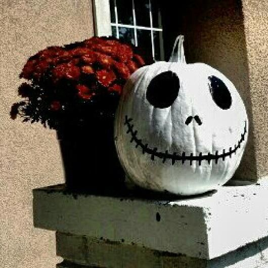 Jack Skelington Halloween pumpkin