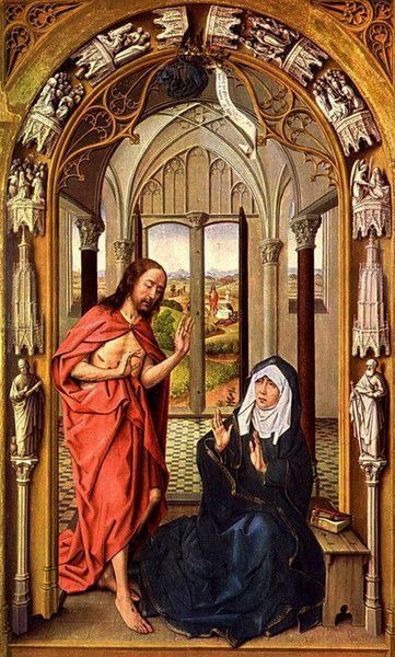 Рогир ван дер Вейден - Сцена явления Христа Марии