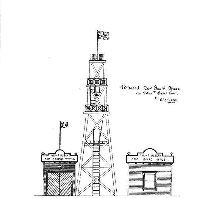 KingslandNZ-Mt Albert Fire Station Lookout 1914