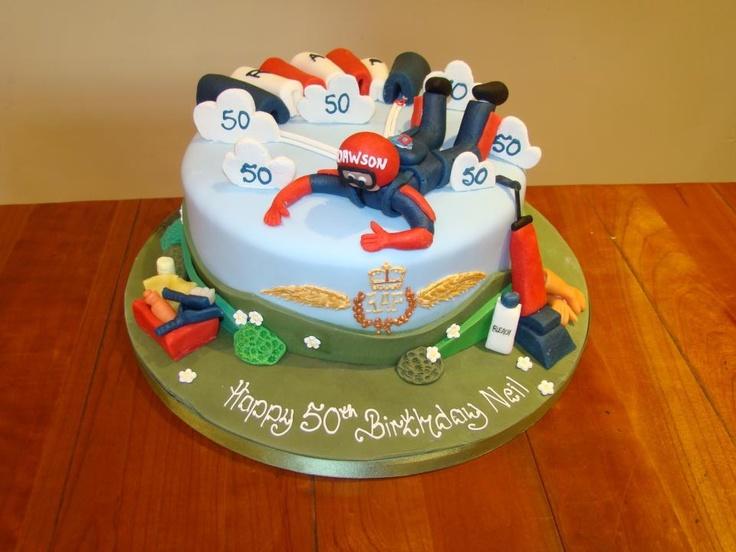 Skydiving Birthday Cake Topper