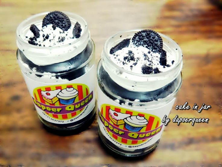 Dapoer Queen: Choco Oreo caje in a jar