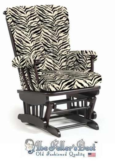 Zebra Print Glider Rocker Chair would love for a baby girls nursery