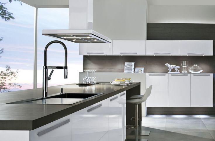 6021 - Häcker Küchen Quercia platino grezzo Häcker Kitchen - küche ohne griffe