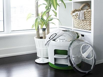 This foot-powered washing machine that requires zero electricity: | 19 Conveniently Portable Items That Will Change Your Life