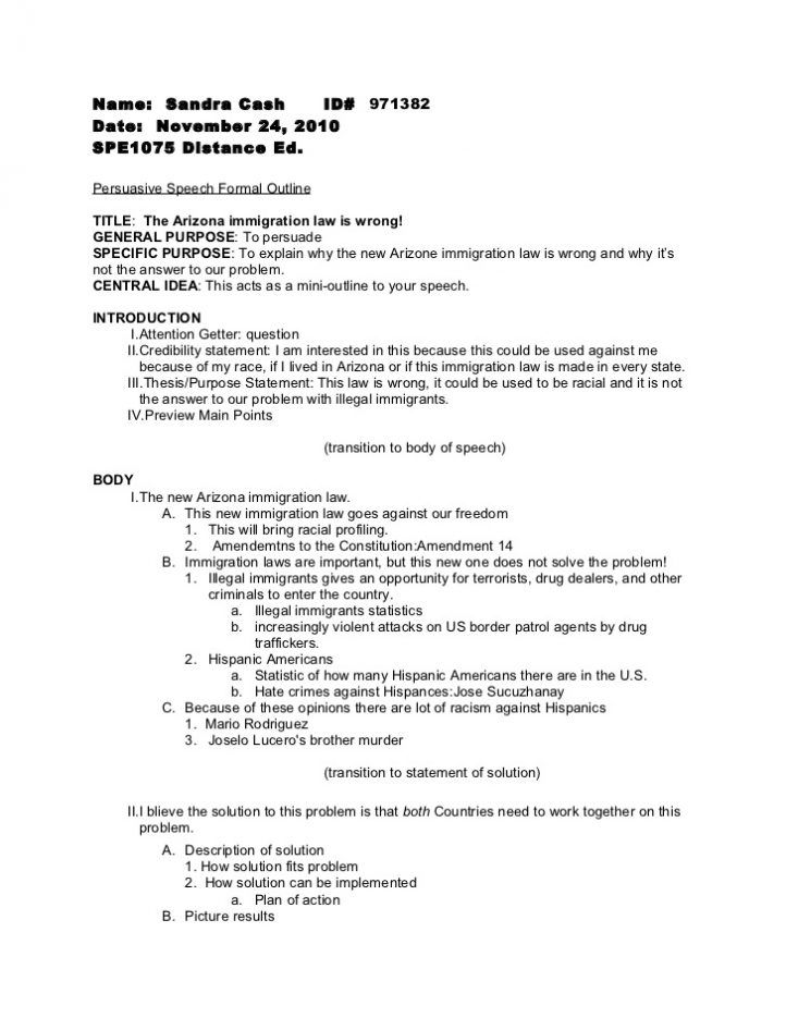 Persuasive Speech Outline Check More At Https Cleverhippo Org Persuasive Speech Outline