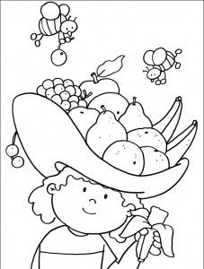 coloring pages vegetables preschoolers eating - photo#19