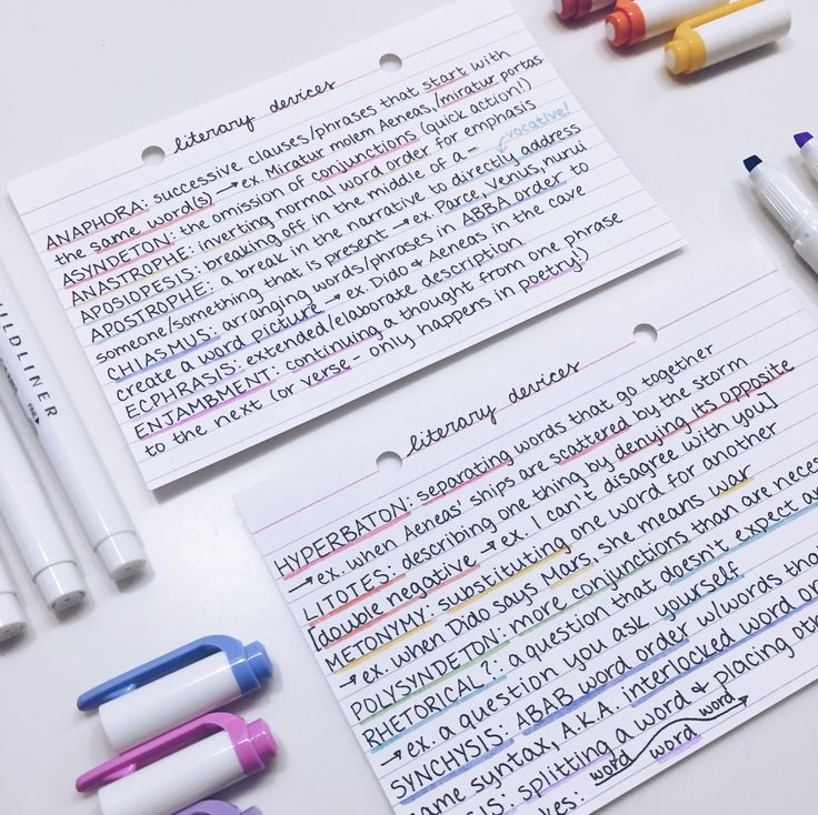 """ivyfern: """"First official post, yay!! Tested out my new mildliners by making some Latin literary device flashcards, and I love them  """""""