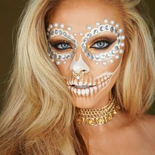 ❦Sugar Skull/Day of the Dead white makeup❦