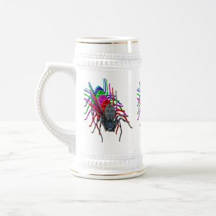 Huntsman Spider In Multi Colours Beer Stein - decor diy cyo customize home