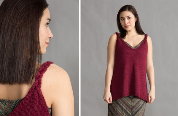 Issue 338: Braided Strap Tank, a free pattern from CEY