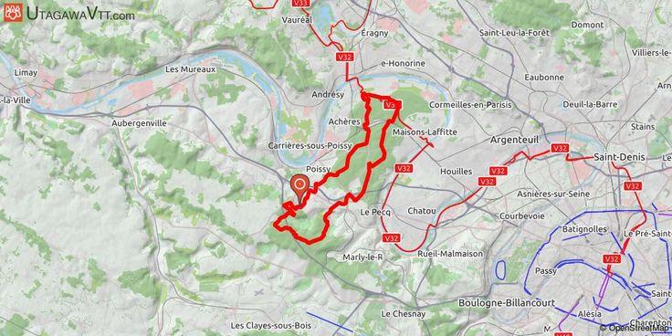 [Yvelines] Le Grand I Un bel itinéraire alliant voies larges, single-tracks, quelques montées et descentes sympas sur un tracé varié. Ce tracé passe par l'étang du Corra et quelques autres coins intéressants de la forêt de Saint-Germain-en-Laye. Il remonte ensuite dans la forêt de Marly, ce qui permet d'apprécier la différence de niveau d'engagement des deux domaines.