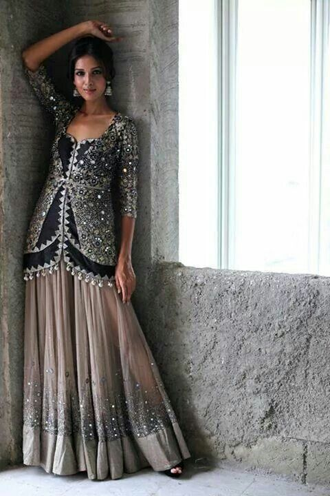 Lehenga with long kurti