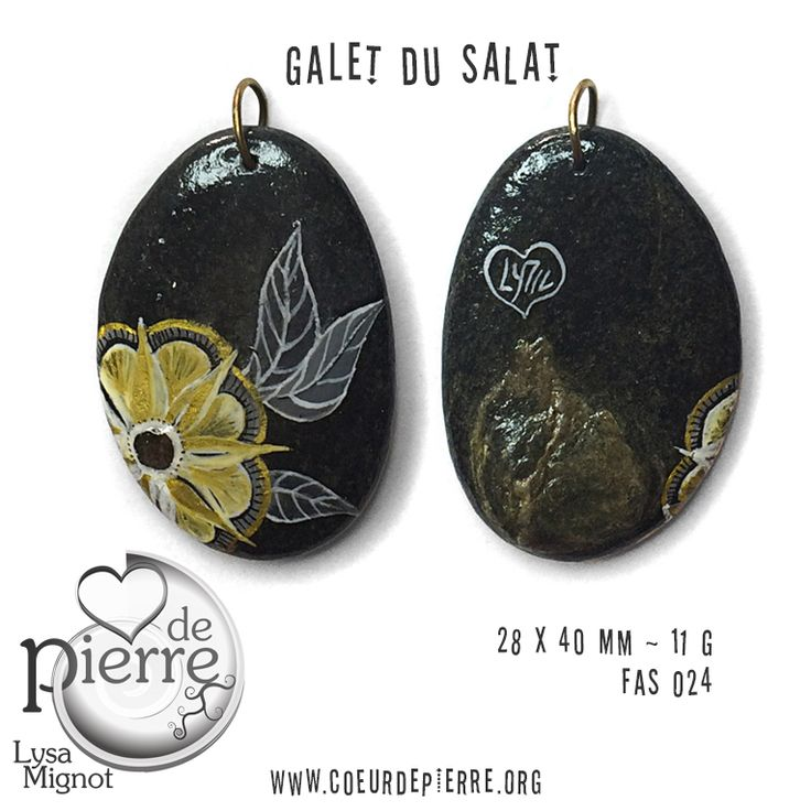 pendentif galet peint acrylique fleur by coeurdepierre les galets de lyzzz fas 24. Black Bedroom Furniture Sets. Home Design Ideas