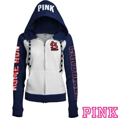St. Louis Cardinals Victoria's Secret PINK® Color Block Full Zip Hoodie