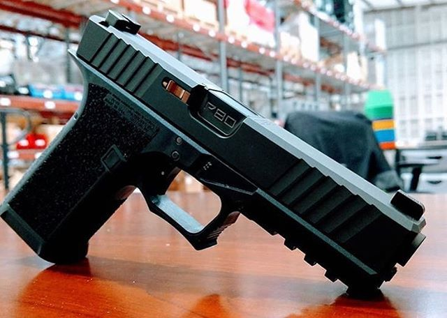 P80 Frame black anodized magwell curved alum trigger black DLC