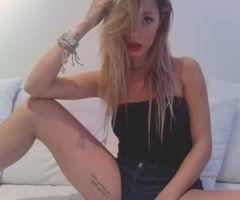 Rebecca Stella Simonsson inner thigh tattoo