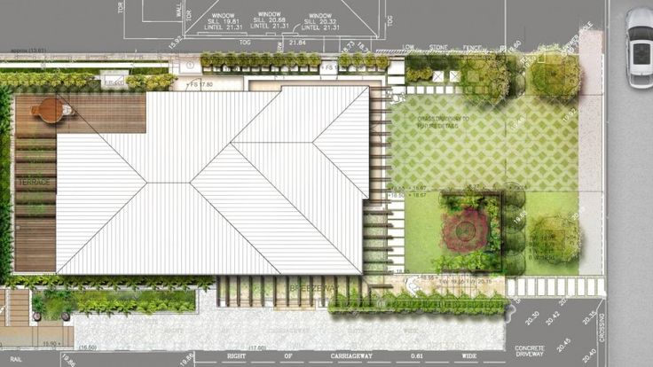 Residential garden design for waterfront property at Clareville Beach, Avalon.