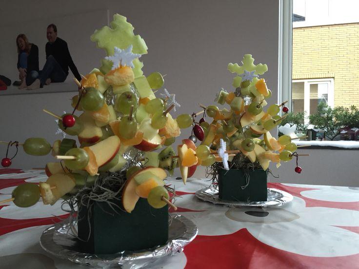 fruitkerstboom, kerstdiner 4 kids