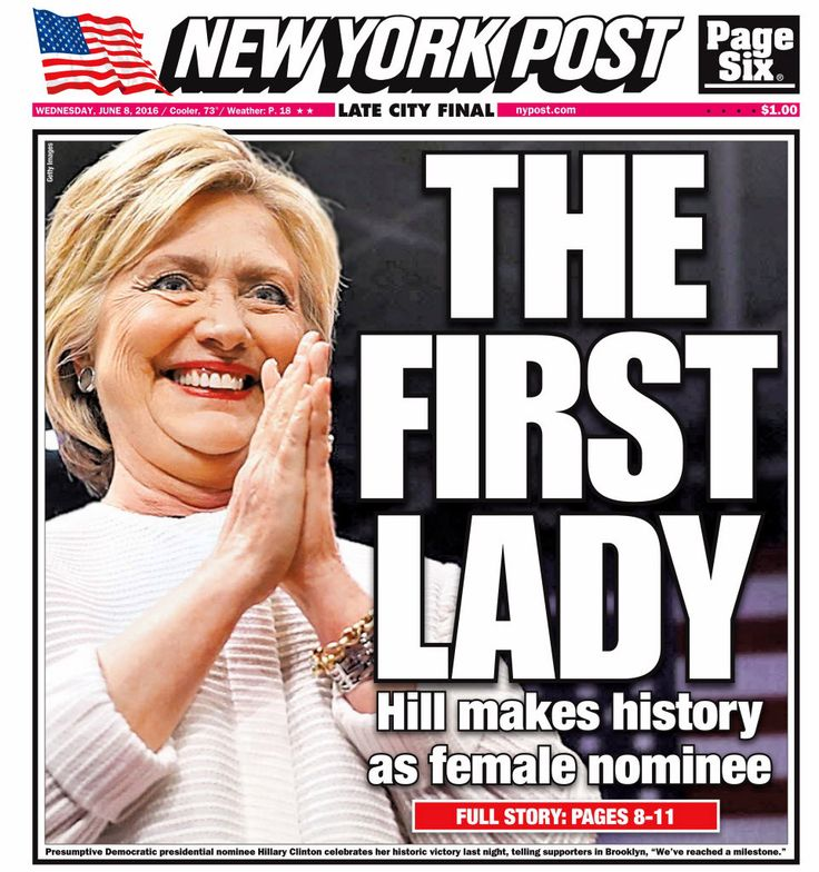 """Hillary Clinton became the first female candidate to clinch the presidential nomination of a major political party, 96 years after women won the right to vote. """"Some of us are just terribly moved b…"""