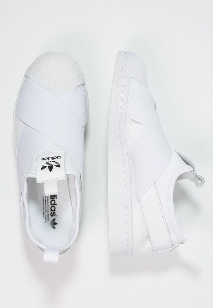 adidas Originals SUPERSTAR - Slip-ons - white/core black for £60.00