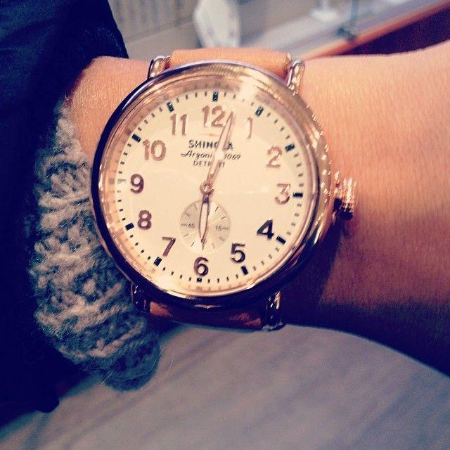 'The Runwell' 41mm Rose Gold Shinola Watch, made in Detroit, MI, USA