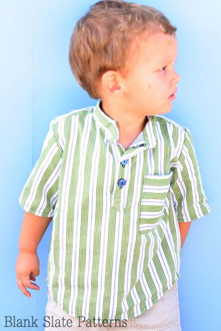 CUTE shirt pattern ... Blank Slate Patterns Prepster Pullover