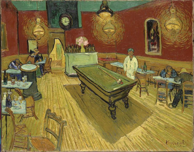 The Night Cafe in the Place Lamartine in Arles, Van Gogh, 1888