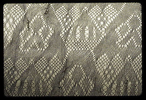 Fragment Date: ca. 1450–1500 Culture: British, London Medium: Wool, sprang Dimensions: L. 16 3/4 x W. 14 inches 42.5 x 35.6 cm Classification: Textiles-Laces
