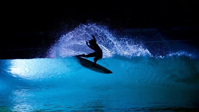 WAVEGARDEN® Night Surfing Experiment  Wavegarden, pioneers in man-made wave technology, recently conducted a series of tests at their headquarters in Northern Spain in order to check how its technology can improve different aspects of the surfing experience. The first of such tests focused on surfing at nighttime, using a state-of-the-art lighting system and featuring the talents of former European surf champion Vincent Duvignac, big wave surfers Natxo Gonzalez and Axi Muniain and Zarautz…