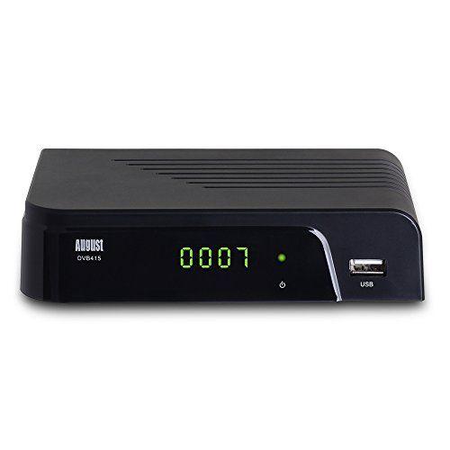 August DVB415 Décodeur TNT HD (MPEG4 / H.264) – Boitier de réception DVB-T/DVB-T2 et Lecteur Multimédia avec Sortie HDMI et Sortie Audio…