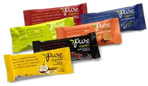 Pure Organic uses whole food ingredients + brown rice protein (6gm protein/bar). Too sweet? Maybe. But generally a great find.   Avoid if you cannot tolerate Agave Nectar.