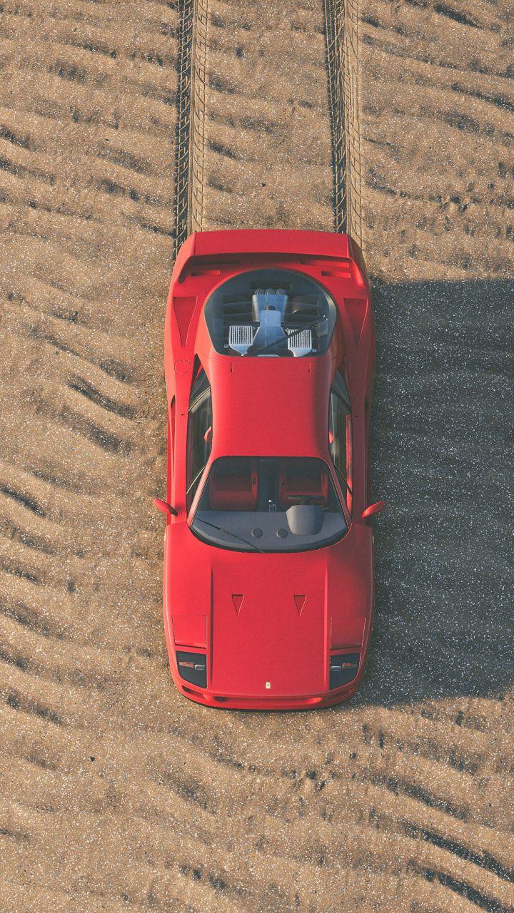 Red Ferrari Sports Car The Crew 2 720x1280 Wallpaper With Images Ferrari F40 Ferrari Super Cars