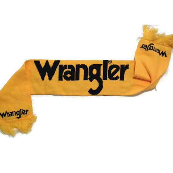 Wrangler Scarf / Tasselled Knit Scarf / Country by RetroFreshTees, $14.00