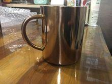 Tienda Online GENNISSY Cerveza Moscú Mula Tazas De Cobre de Acero Inoxidable 304 taza de Leche Taza de Café de Lujo de Cocina Tazas Drinkware | Aliexpress móvil