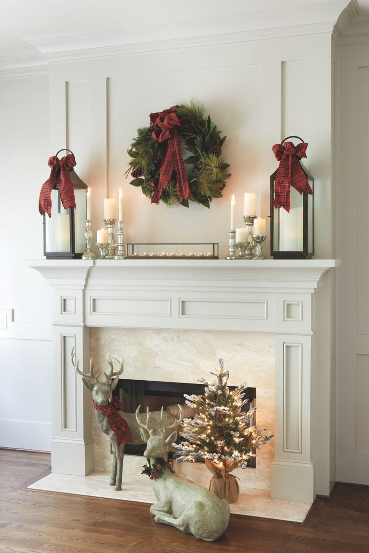 Simple Christmas Mantel Ideas Mercury Glass