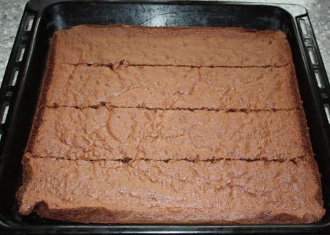 Fantastická čokoládovo - ovocná torta bez múky - recept postup 5