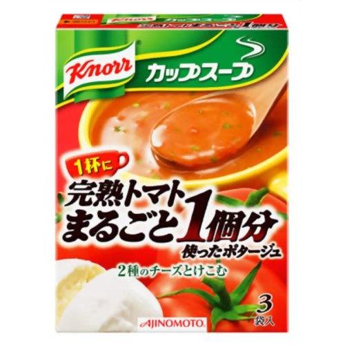 クノールカップスープ 完熟トマトまるごと1個分使ったポタージュ 3袋入[クノール スープ]   timein.jp