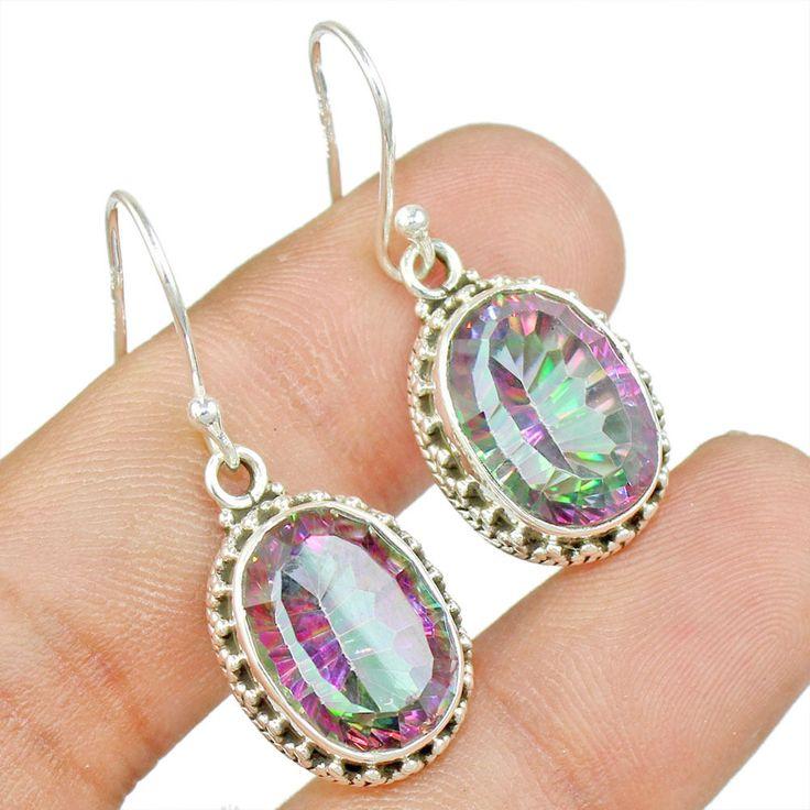 Mystic Topaz 925 Sterling Silver Earring Allison Co Jewelry E-1615 #Allisonsilverco