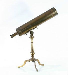 RARE Antique 18th C Reflecting Telescope by L Van Der Bildt Franeker No 143   eBay